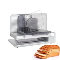 220V Electric Meat Slicer Cutting Machine Semi Automatic Meat Slicer Cutter for Bread Lamb Beef Fruit Ham Toast Vegetable 150W