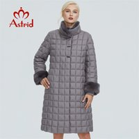 Astrid winter jacket women with fur collar design long thick...