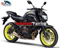 Feedings da motocicleta para Yamaha MT-07 2018 2019 2020 MT07 18 19 20 Preto Amarelo Aftermarket Sportbike Feeding (moldagem por injeção)