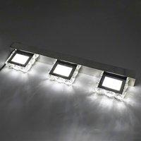 뜨거운 판매 9W 3 조명 크리스탈 표면 욕실 침실 램프 따뜻한 흰색 빛 실버 밝기 방수 벽 램프