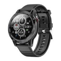 ساعة ذكية جديدة سوداء معدل ضربات القلب IP68 شاشة تعمل باللمس معدل ضربات القلب للماء