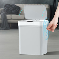 Lixo inteligente pode auto aberto tipo de indução de lixo plástico lata touchpad lata