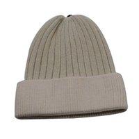 비니 / 두개골 모자 고체 유니섹스 가을 겨울 양모 혼합 부드러운 따뜻한 니트 모자 남성 여성 Skullcap 모자 스키