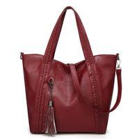 HBP Bolsa Grande Bag Grande Capacidade Couro Macio 2010 Novo Outono e Inverno Handbag Pu Woven Saco das Mulheres 001