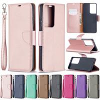 BF Luxury Litchi PU Läder Plånbok Väska med remväska till iPhone 12 11 Pro Max XR XS X 8 Samsung S21 Plus S10e S20 Fe Not 10 20 Ultra