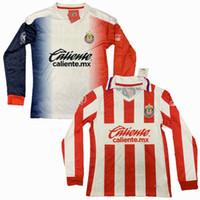 2021 Guadalajara Manga Longa Futebol Jerseys Chivas Regal Macias I.Brizuela A.Vega Home 20 21 Camisa de Futebol