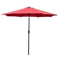8.86ft Sunshade Terrasse Regenschirm Aluminium Canopy Shelter Hof Pool Markt Fade Resistant 2.7m Sonnenschirm Strand Regenschirm Freies Verschiffen