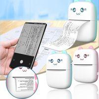 Portátil Bluetooth Mini Impresora térmica 203DPI Pocket de bolsillo inalámbrico Etiqueta impresoras multifunción para Android iOS Teléfono Windows