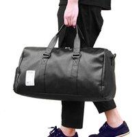 Viagem de couro pu pu pu carregar bagagem mochila sacos grandes cinto fim fim de semana saco crossbody durante a noite sólido xa88wc