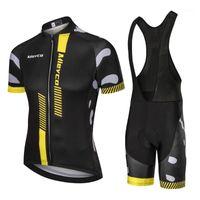 Гоночные наборы 2021 Mieyco Велоспорт Джерси Велосипедная Одежда с коротким рукавом Рубашка нагрудника Брюки Мужчины Одежда MTB Maillot ROPA Ciclismo Hombre1
