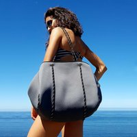 الفاخرة حقيبة الكتف الغوص النسيج النيوبرين تنفس حقيبة كبيرة سعة عارضة حمل حقيبة أعلى مقبض أكياس C1223