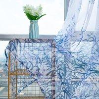 Luxus Jacquard Sheer Vorhänge für Wohnzimmer Das Schlafzimmer Kitchen Tüll Für Windows Voile Yarn Vorhänge Panel Fensterbehandlungen