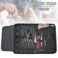 16 stücke Garten Bonsai Werkzeug Set Kohlenstoffstahl Kit Cutterschere mit Nylon Fall CSV 201225