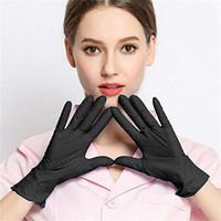 100 шт. / 50 пары Blue / Black Home Одноразовые волосы окраски латексные перчатки для приготовления пищи Универсальный дом Чистка татуировки перчатки