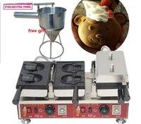 Ekmek Makineleri Maliyet 110 V 220 V-240 V Ayı Şekilli Waffle Koni Makinesi Dondurma Taiyaki Makinesi1