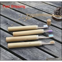 100% Biodegradable Bamboo Toothbrush Holder With Kraft Case Creative Customized Logo Natural Eco Friendly Wooden N qylcIR sports2010