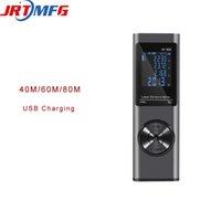 Jrtmfg جديد الليزر rangefinder 40 متر / 60 متر / 80 متر الروليت الليزر متر ل قياس المسافة شريط الرقمية قياس W-40X T200603