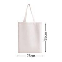 A4 Bolsa de hombro de sublimación en blanco DIY Transferencia de calor DIY Bolsa de lona Eco Portátil Bolsas de tela para mujer Bolsas de compra de ropa de algodón