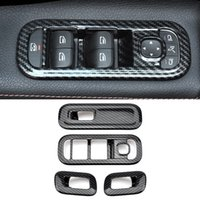 Accessoires de voiture Fenêtre en acier inoxydable Panneau de commande Cover Cadre Cadre Cadre Décor pour Mercedes-Benz A-Class W177 V177 2018-2021
