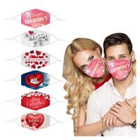 2021 Diseñador Face Mask Día de San Valentín Mascaras de Adulto Diseño de alta calidad Máscara reutilizable Multicolo lavable de alta calidad