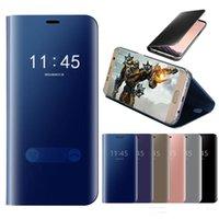 Étui en cuir de miroir intelligent pour Xiaomi Redmi Note 7 7S 7S 7S 7S 7Pro Luxe Clear Phone Case pour Redmi 7 7A MOQ Commande 1P