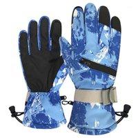 Зимние перчатки сенсорных перчаток ветрозащитный противоскользящий теплый для велосипеда бегущий туризм в гольф рыбалка Унисекс YS-BU1
