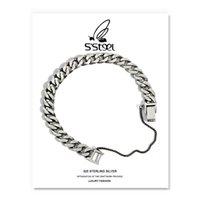 S'steel Braccialetti in argento sterling 925 per le donne uomini Pulseras Mujer Moda Plata Amanti regalo Silber 925 Schmuck Punk Jewelry LJ201020