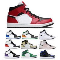 Mid Basketball Shoes Jumpman 1 1s Chicago Light Fumo Cinza Hyper Royal Black Toe Top 3 Hulk Think Mens Mulheres Scarpe Trainers Sneakers
