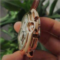 Strap en cuir véritable Tourbillon Montre Haute Qualité Mode Montres Montres Moon Phase Daydate Mécanique Montre Automatique pour Mens Cadeau