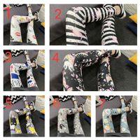 One Piece Plus Tamaño Estampado Leggings Últimas fotos de diseño Ropa femenina Nuevo Diseño de pantalones para mujer disponible en muchos colores