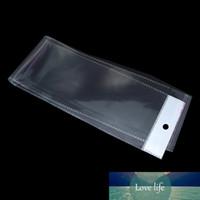 10.5x58cm Clear Opp Bag Borsa autoadesiva Autoadesive Pacchetti di plastica per le estensioni dei capelli Pacchetto Pacchetto Display Poly Polies 200pcs / lot