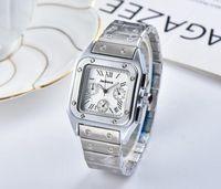 Tutti i quadranti Cronografo funzionano Uomo Stopwatch Movimento al quarzo in acciaio inox Uomo orologi da polso Moda Square Designer orologi