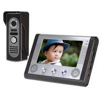 Téléphones vidéo Vidéo Système de système d'interphone téléphonique câblé de 7 pouces 7 pouces Kit 1 caméra moniteur1