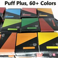 Puff Plus 800 Puffs одноразовые Vape E CiGarette одноразовое устройство 3.2ML POD с наклейкой безопасности 60+ цветов Puff Plus Plus