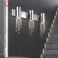 Modern Staircase wall sconce light  bedside crystal wall lamp chrome gold decor led crystals light fixtures