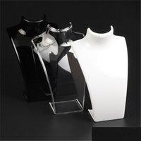 Neue Mode Acryl Schmuckanzeige 20 * 13,5 * 7.3cm Anhänger Halsketten Modell Stand Halter Weiß Clear Schwarz Farbe ES3UC YZZIW RXXYM LYTFE DPXAH