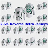 Dallas Stars 2021 Reverse Retro Jerseys 30 Ben Bishop Jersey 16 Joe Pavelski 4 Miro Heiskanen 36 Mats Zuccarello Mens Costume Costume