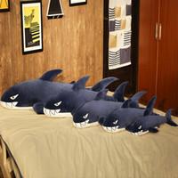 DEW DEW DEW DEW SHARK Peluche Giocattoli per bambini Giocattoli per bambini Soft Pelwed Animals Kawaii Cuscino Bambole Ragazzi Ragazze Regali Dormire cuscino cuscino cuscino regalo