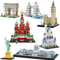 Balody World Architecture célèbre Diamond Building Building Blocks Toy Taj Mahal Vassili Church Big Ben London Bridge J1202