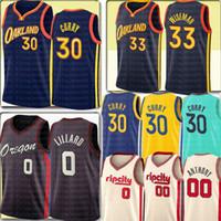 2021 Stephen 30 Curry Jersey 33 Wiseman Jersey Damian 0 Lillard Carmelo 00 Anthony Basketball Jerseys Logos cousus