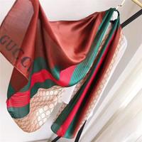 Letra bonita letra de alta qualidade seda tiras lenços xale para mulheres tamanho 180x90cm sem caixa
