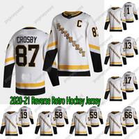 Mujeres 2020-21 Retro retro Sidney Crosby Hockey Jersey Pittsburgh Penguins Bryan Rust Kris Letang Jake Guentzel Mario Lemieux Evgeni Malkin