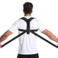 Поддержка задней поддержки 1 шт. Спортивный корректор осанки Регулируемая верхняя скоба для ключицы до и плечо