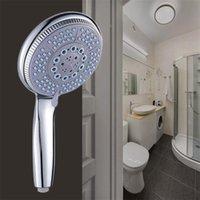 가압 노즐 샤워 헤드 ABS 욕실 액세서리 고압 물 절약 강우 크롬 샤워 헤드 200925