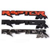 1PC Raptor SVT Autocollant de voiture Sticker Decal 3D Badge Extérieur Tailgate Fender Côté pour F150 F250Auto Accessoires Emblème