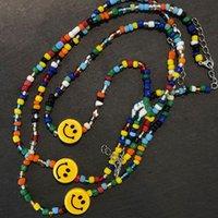 Blapink Stesso collana Lisa Kim Ji-Su Jennie Smiley colori collana in rilievo della clavicola collare a catena