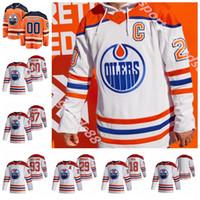 Edmonton Oilers 2020-21 عكس الرجعية جيرسي 97 كونور ماجدافيد 29 ليون درايسيتل 93 ريان نوجينت هوبكينز 74 إيثان الدب الهوكي الفانيلة