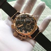 2020 männer watch rose gold saphir glas u style vk quarz mit chronograph arbeitet leuchtende nadeln boot linkshändig männer sportuhren