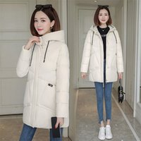 women winter hooded warm coat cotton padded jacket big pocke...