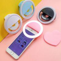Selfie Ring الهاتف المحمول كليب عدسة ضوء مصباح Litwod LED لمبات الطوارئ بطارية جافة للصور كاميرا جيدة الهاتف الذكي الجمال